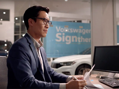 VW 2019 Sign Then Drive Campaign